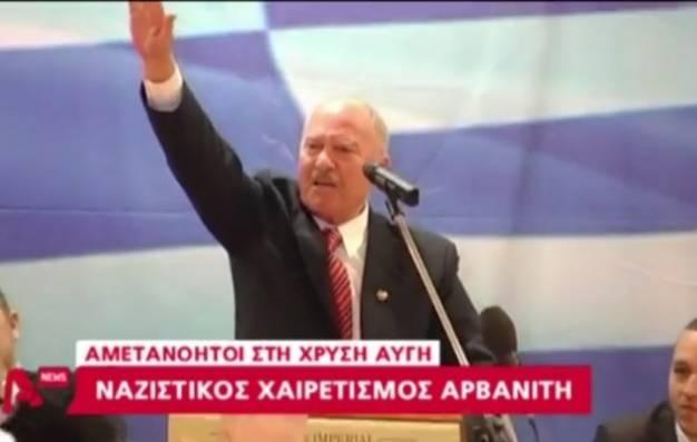 Κρήτη: Ανακοίνωση των υποψηφίων της ΧΑ με ναζιστικούς χαιρετισμούς (video)